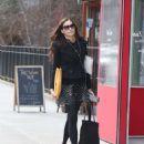 Famke Janssen in Mini Skirt – Out in NYC