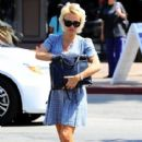 Pamela Anderson having lunch with a friend in Malibu, California on June 29, 2014