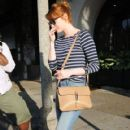 Actress Emma Stone is seen leaving the Meche Salon in West Hollywood, California on June 8, 2016 - 420 x 600