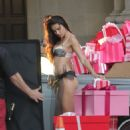Adriana Lima Shooting Commercial For Victorias Secret