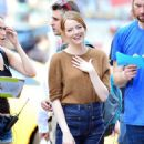 Emma Stone – Films 'Billy on the Street' set in New York City - 454 x 509