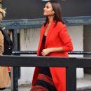 Alesha Dixon in Red Coat at ITV Studios in London - 454 x 681