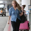 DEBBY RYAN Arrives at LAX Airport in Los Angeles - 454 x 681