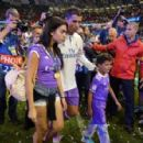Cristiano Ronaldo is joined by girlfriend Georgina Rodriguez and crying son as Real Madrid celebrate retaining the Champions League against Juventus