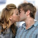 On set kissing Katie Cassidy
