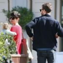 Amelia Warner and Jamie Dornan out in London (April 7, 2015)