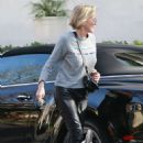 Sharon Stone in Leather Pants – Out in Los Angeles - 454 x 681