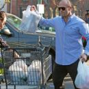 Actor Jason Statham and girlfriend Rosie Huntington-Whiteley out grocery shopping at Bristol Farms in West Hollywood, CA