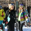 Paris Hilton and Sofia Richie – Hitting the slopes in Aspen