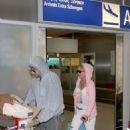 Eleni Menegaki and Mateo Pantzopoulos- airport look