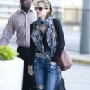Emma Watson was spotted at John F. Kennedy International Airport today, June 15, in New York City