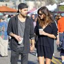 Phoebe Tonkin and Paul Wesley hold hands out in Studio City - 454 x 541