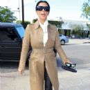 Kim Kardashian stops by a hair salon in West Hollywood, California on December 22, 2012