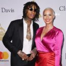 Amber Rose and Wiz Khalifa attend Pre-GRAMMY Gala and Salute to Industry Icons Honoring Debra Lee at The Beverly Hilton in Los Angeles, California - February 11, 2017 - 429 x 600