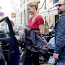 Michelle Hunziker – Out and about in Milan - 454 x 681