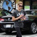Ashley Greene grabbing a healthy drink with a friend at Earth Bar in West Hollywood, CA (July 10)