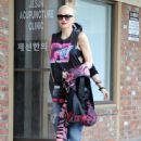 Gwen Stefani is seen leaving her acupuncture appointment on January 26, 2015 in Los Angeles, California