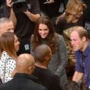 Duke & Duchess Of Cambridge British Royals Go to an NBA Game (December 8, 2014)