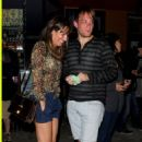 Lea Michele and Theo Stockman