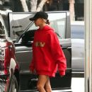 Hailey Bieber – Seen at a medical building with Justin Bieber in Beverly Hills