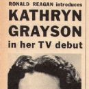Kathryn Grayson - TV Guide Magazine Pictorial [United States] (29 October 1955) - 454 x 1225