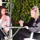 Jojo Siwa – Dancing with her BFF out and about in Los Angeles - 454 x 303