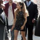 Ariana Grande is seen at Universal Music Brunch to Celebrate the 56th Annual GRAMMY Awards