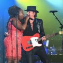 Ledisi Anibade Young and Guitarist Richie Sambora perform onstage at the Songwriters Hall Of Fame 46th Annual Induction And Awards at Marriott Marquis Hotel on June 18, 2015 in New York City. - 454 x 365
