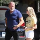 Kelsey Grammer and his wife stop by the Andy LeCompte Salon in West Hollywood, California on September 29, 2015 - 454 x 554