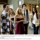 Denis (Paul Rust), Treece (Lauren Storm), Beth Cooper (Hayden Panettiere), Rich (Jack T. Carpenter) and Cammy (Lauren London) display varying reactions to an unexpected development during their wild evening together. Photo credit: Joe Lederer. ®2009 Twent - 454 x 355