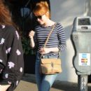Actress Emma Stone is seen leaving the Meche Salon in West Hollywood, California on June 8, 2016 - 396 x 600