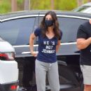 Courteney Cox with mysterious guy in Malibu