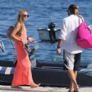Lindsay Lohan and Denis Papageorgiou- out in Mykonos September 2016
