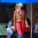 Stella Maxwell – Wears a leather jacket in Los Feloz