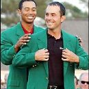 Tiger Woods with Mike Weir - 195 x 262