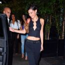Bella Hadid – Seen at LAvenue at Saks for her birthday celebration with friends in New York City