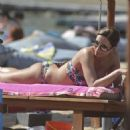 Elli Kokkinou with her mother and son on the beach- Athens 04/2016