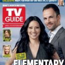 Jonny Lee Miller, Lucy Liu, Elementary - TV Guide Magazine Cover [United States] (14 October 2013)