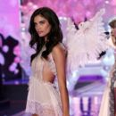 Model Sara Sampaio walks the runway at the annual Victoria's Secret fashion show at Earls Court on December 2, 2014 in London, England