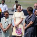 Kate Middleton: back on the move as they departed Solomon Islands