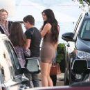 Kylie Jenner In Tight Mini Dress At Nobu In Malibu