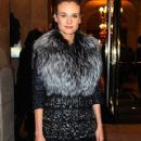 DIANE KRUGER KEEPS UP HER STYLISH FASHION WEEK WAYS IN FUR AND FEATHERS