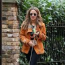 Caroline Flack with her dog out in London - 454 x 743