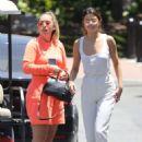 Selena Gomezin white outfit at Sony Studios in LA