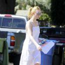 Elle Fanning in White Dress out in LA - 454 x 621