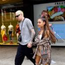 Ariana Grande and Pete Davidson – Shopping at Barney's New York in NYC