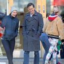 Claire Danes and her husband Hugh Dancy out in New York - 454 x 539