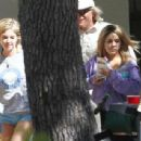 Vanessa Hudgens on the set of Spring Breakers on March 5, 2012 in Sarasota, FL