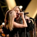 LeAnn Rimes and Steven Tyler perform onstage at 2014 MusiCares Person Of The Year Honoring Carole King at Los Angeles Convention Center on January 24, 2014 in Los Angeles, California