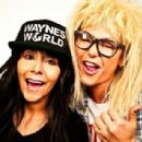 Snooki and JWoww pose as Wayne and Garth from